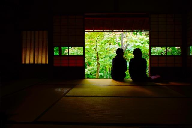 Quietness of Japanese garden