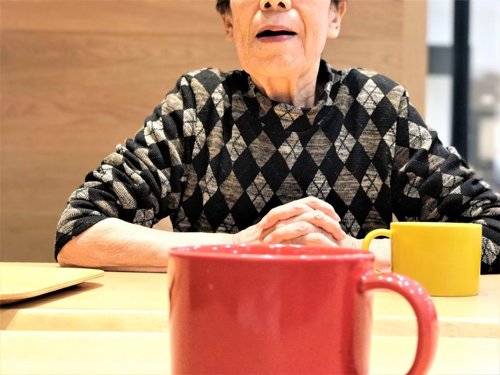 Communication with Elderly Woman
